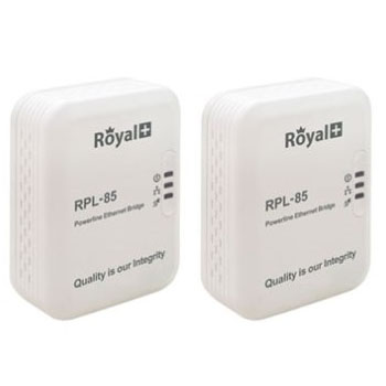 RoyalPlus 85Mbps Wireless Powerline Pair