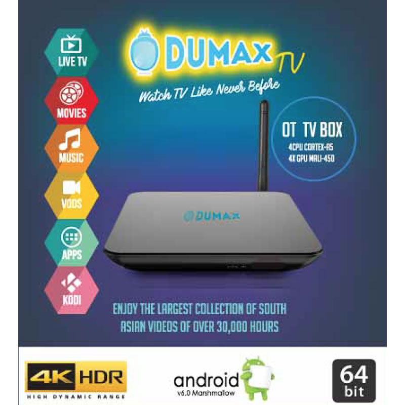 Dumax D510 4K Quad Core - South Asain IPTV Box